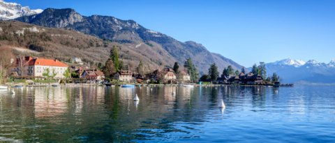 lac annecy hiver